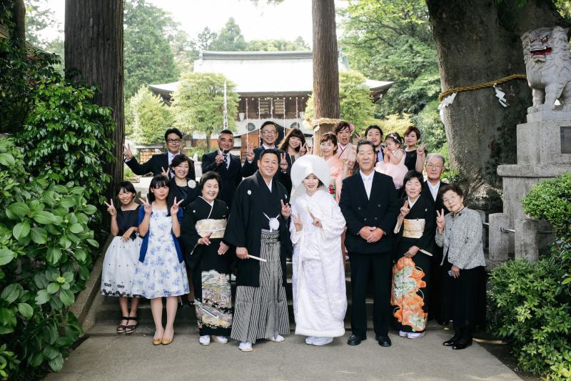 比々多神社にて集合写真