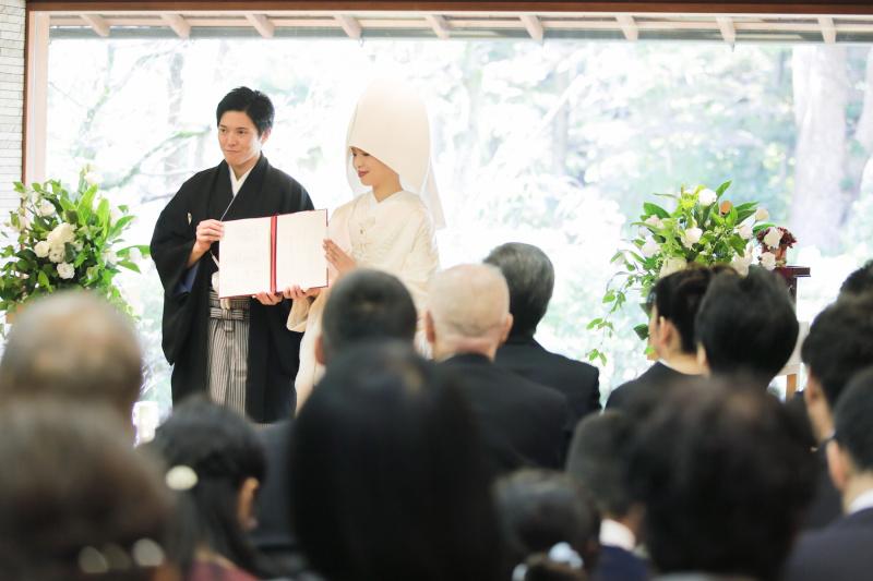 結婚証明書の披露