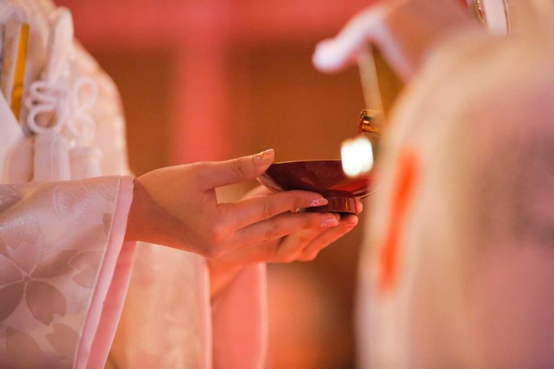 神社挙式:誓いの盃
