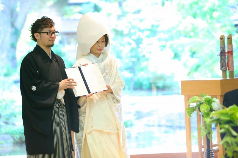 人前挙式:結婚証明書披露
