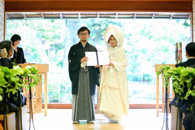 人前式:結婚証明書ご披露