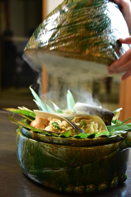 竹の子と桜鱒ご飯